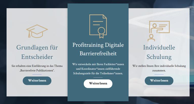 Schulung zu Barrierefreien PDF und zur Digitalen Barrierefreiheit auf der Landingpage https://www.satzweiss-akademie.com/